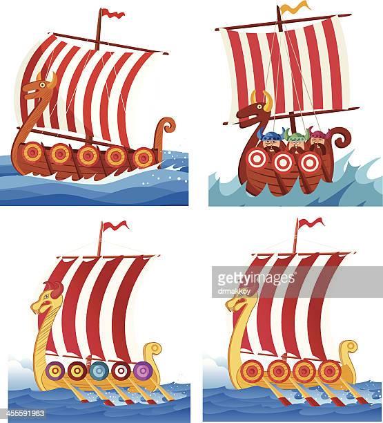 Viking warships