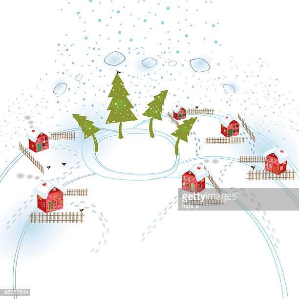 illustrations, cliparts, dessins animés et icônes de village en hiver - ski humour
