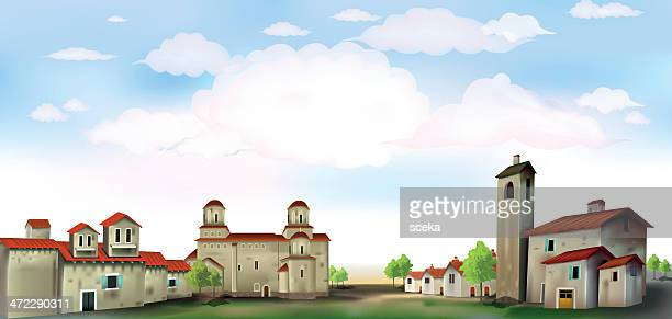 village - village stock illustrations