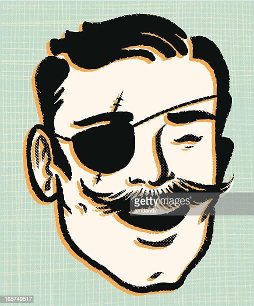 illustrations, cliparts, dessins animés et icônes de méchant mr.srretro - moustache
