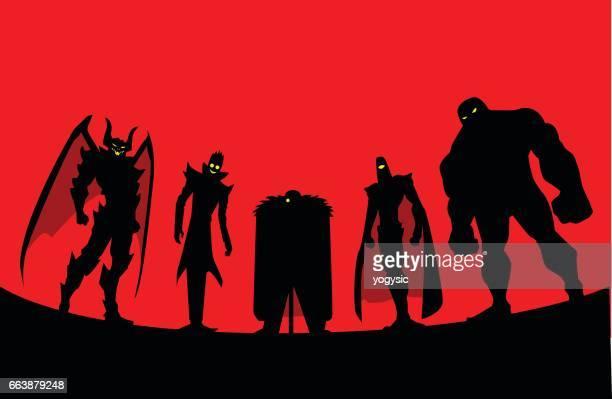 Villain Team Silhouette