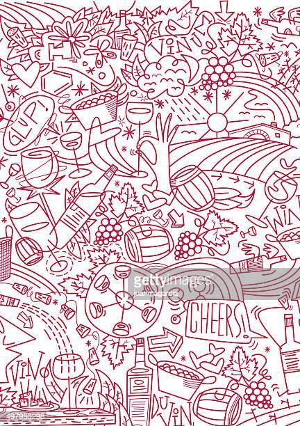 ilustraciones, imágenes clip art, dibujos animados e iconos de stock de de vino - botella de vino
