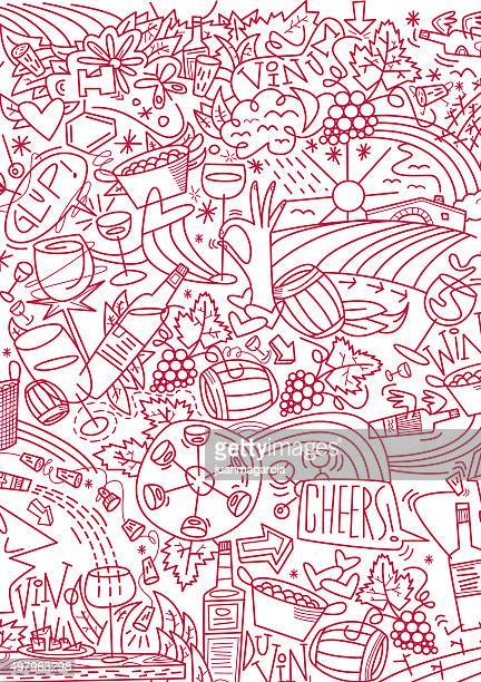 vino - cork stopper stock illustrations, clip art, cartoons, & icons