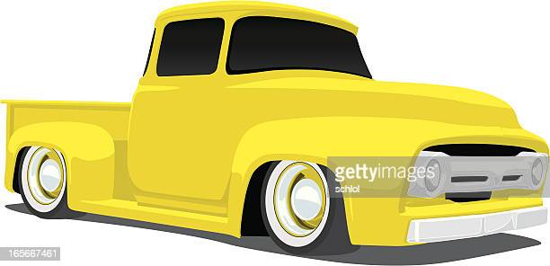 vintage 1950's pickup truck - low rider stock illustrations