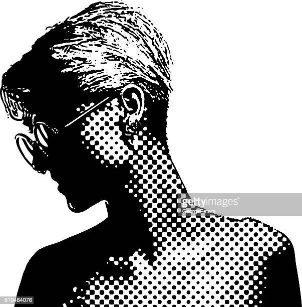Vintage 1960's halftone dot Portrait
