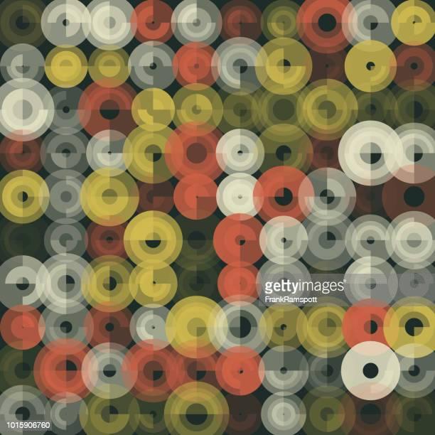 Vintage abstrakt Kunst Kreismuster