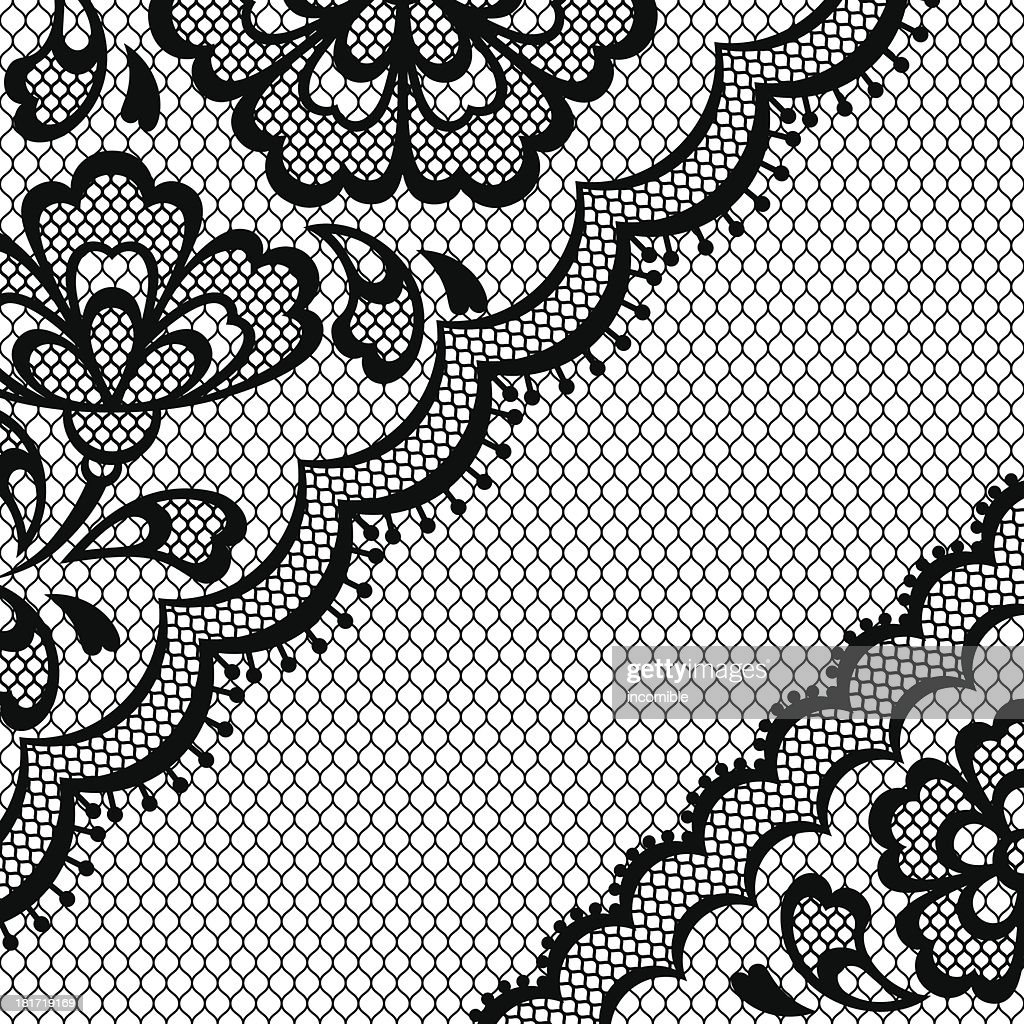 Vintage abstract lace frame vector texture