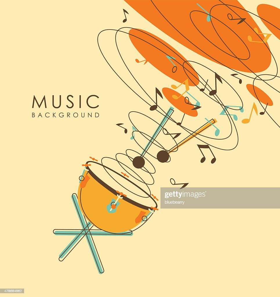 Vintage abstract musical background