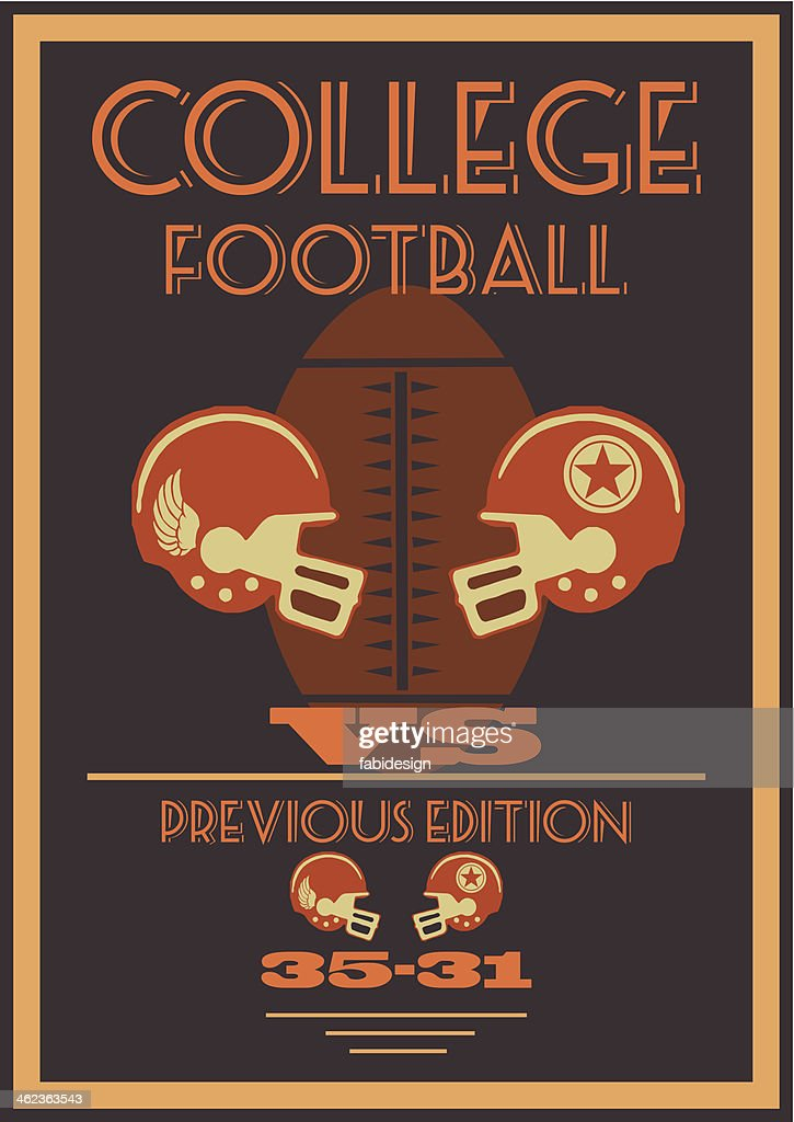 Vintage American college football poster