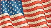 Vintage American Flag (close-up)