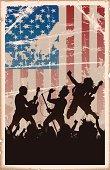 Vintage American Rock Poster