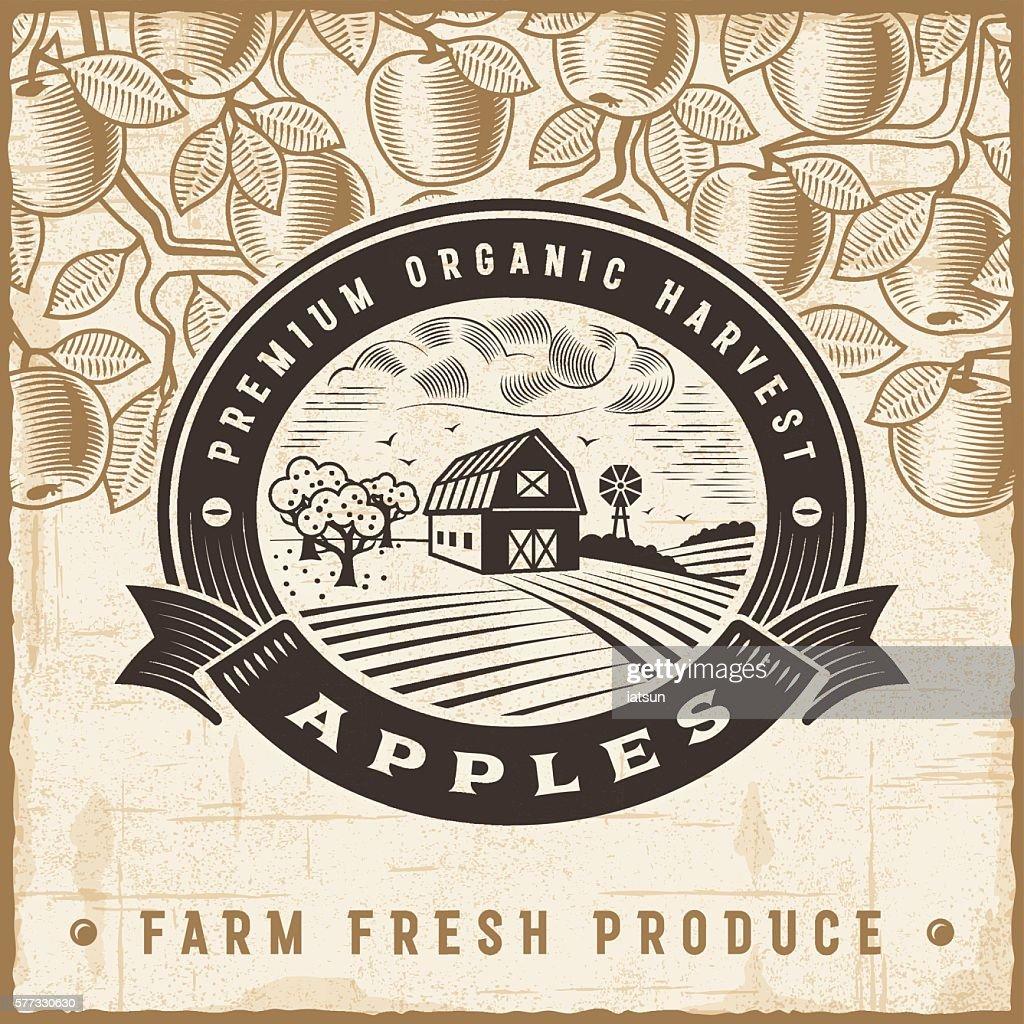 Vintage apple harvest label