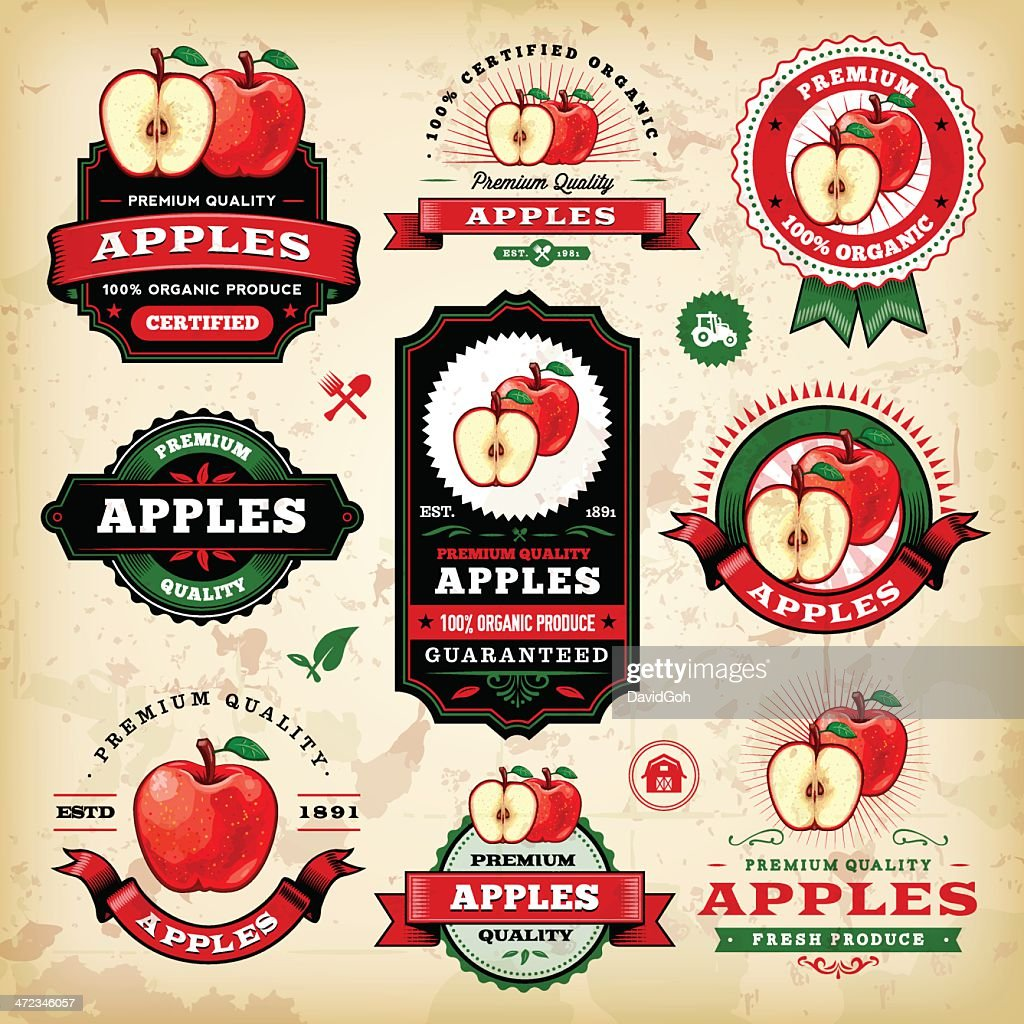 Vintage Apple Labels