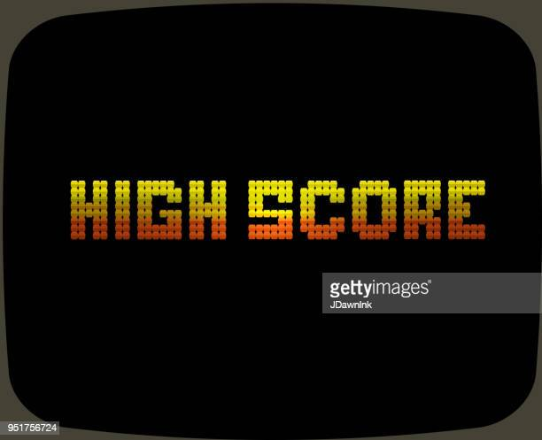 vintage arcade game screen - scoreboard stock illustrations