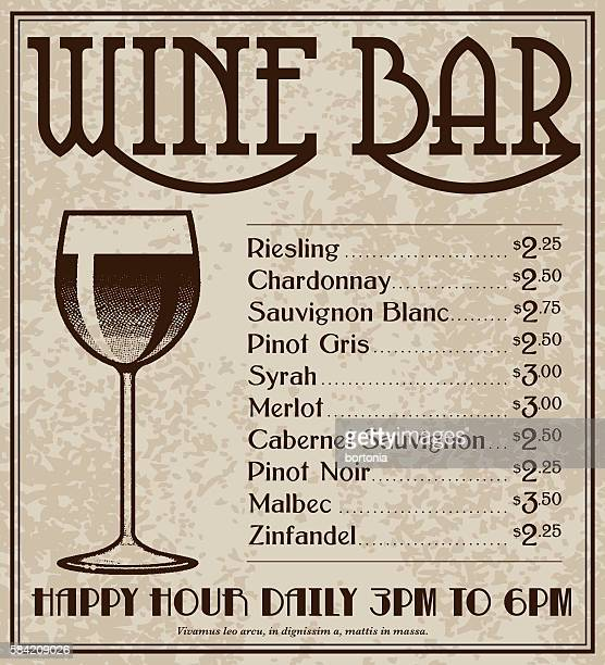 Vintage Art Deco Style Wine Bar Advertisement