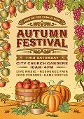 Vintage Autumn Festival Poster