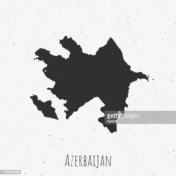 vintage azerbaijan map with retro style, on dusty white background - azerbaijan stock illustrations