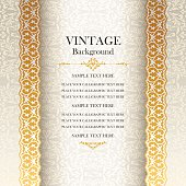 Vintage background, antique style greeting card