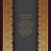 Vintage background design, elegant book cover