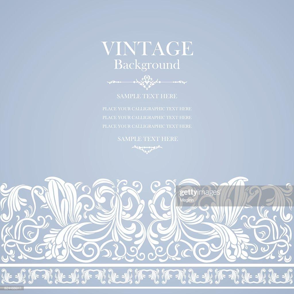 Vintage background, wedding luxury card