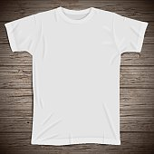 Vintage background with blank t-shirt