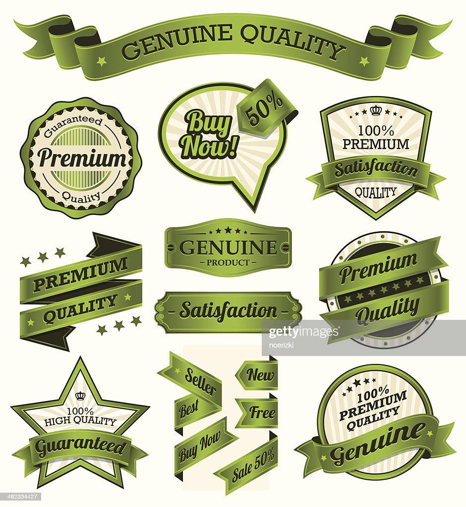 Vintage Badge and Label Set
