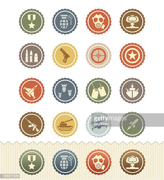vintage badge series : war games and military icons - sniper stock illustrations, clip art, cartoons, & icons