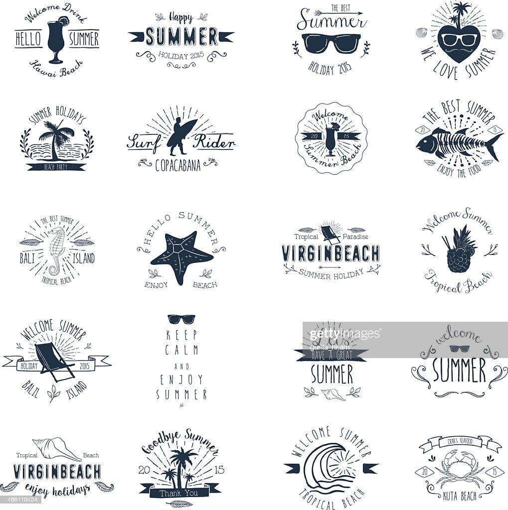 Vintage Badges for Summer season