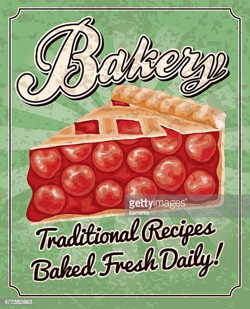 vintage bakery poster - pastry lattice stock illustrations, clip art, cartoons, & icons