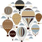Vintage Balloon Set