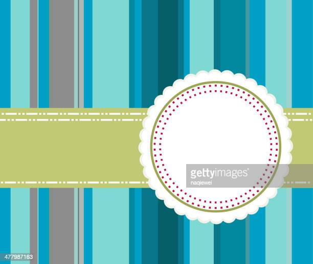 vintage banner with blue stripe background - pastry lattice stock illustrations, clip art, cartoons, & icons