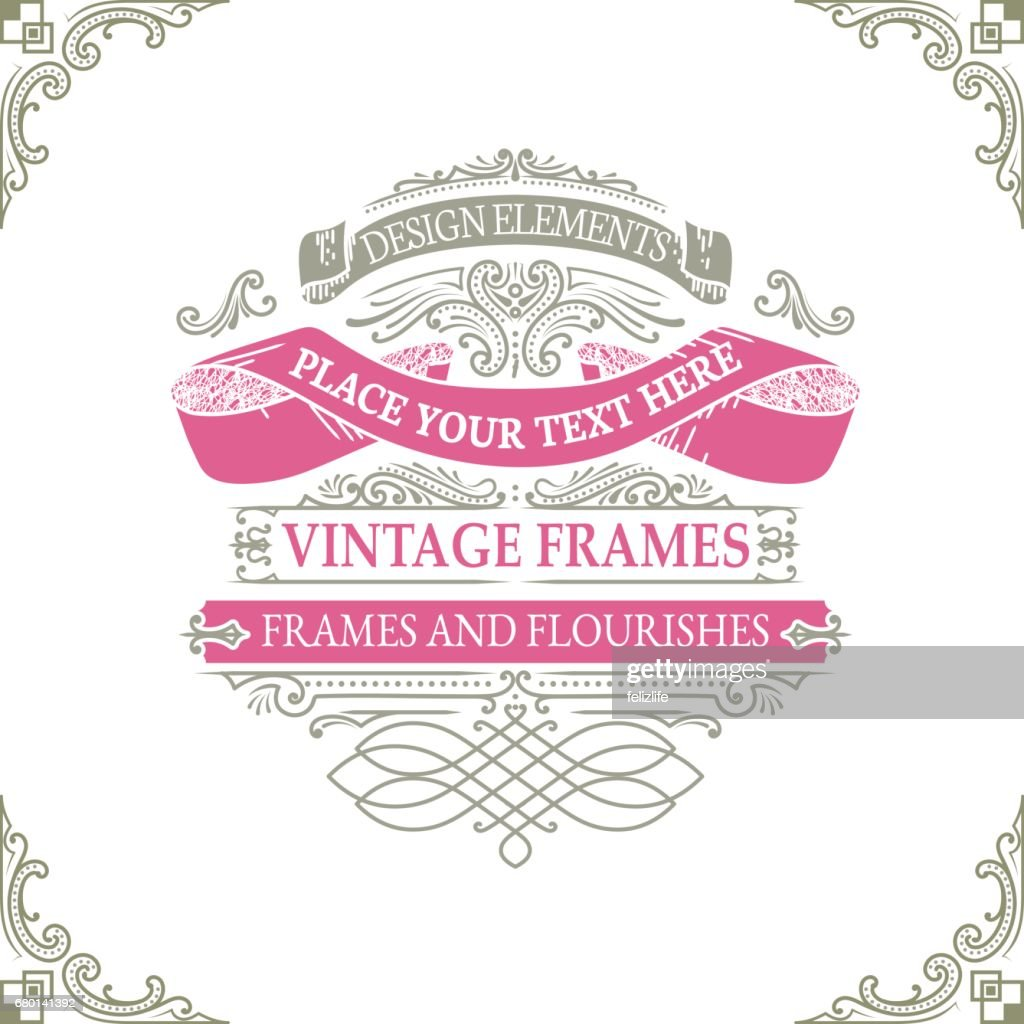 Vintage Banners And Frames With Flowers Vector Art | Getty Images