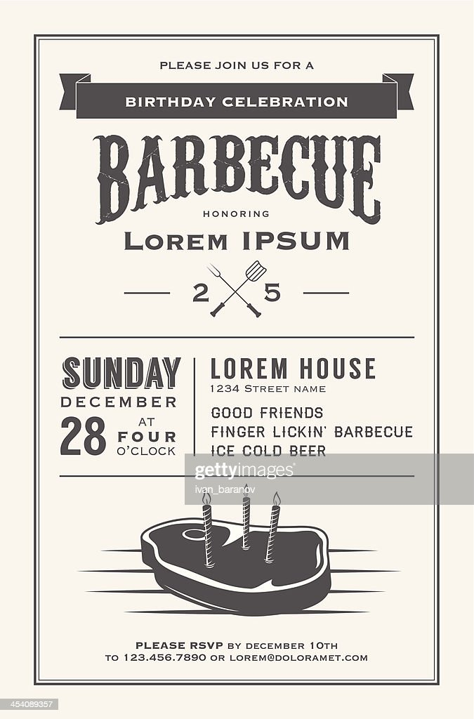 Vintage barbecue birthday celebration on December 28, Sunday