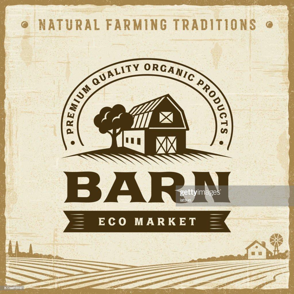 Vintage Barn Label