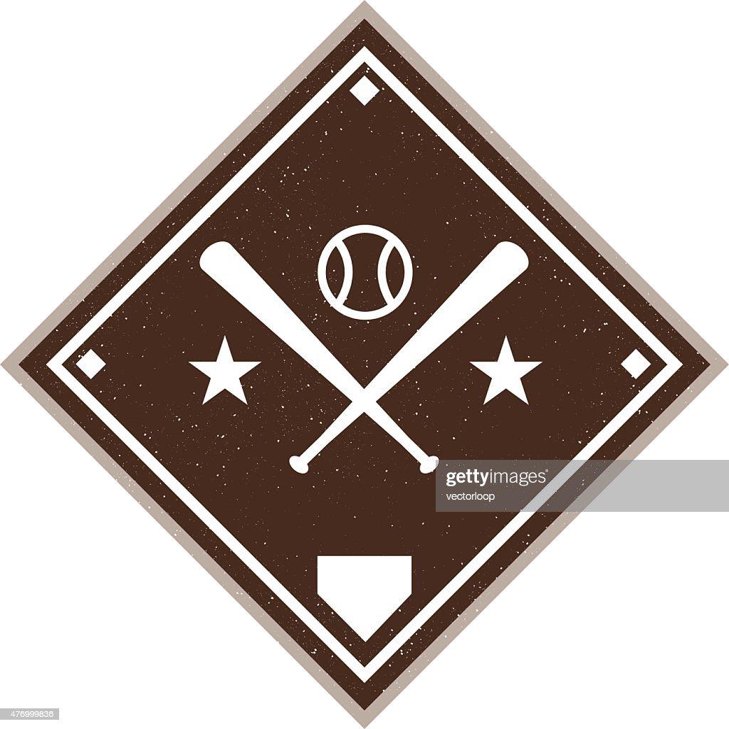 Vintage Baseball Diamond