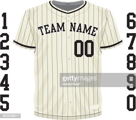 Vintage Baseball Jersey High Res Vector Graphic Getty Images