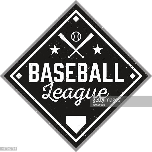 vintage baseball logo - baseball stock illustrations, clip art, cartoons, & icons