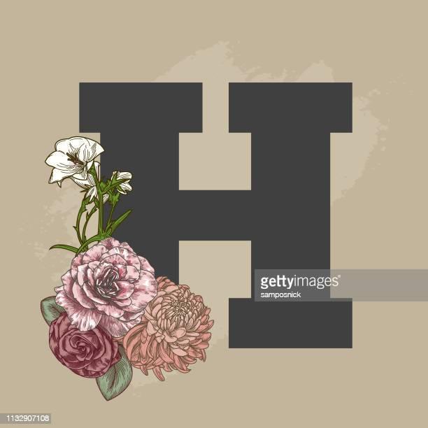 Vintage Beige Floral Drop Cap Brief