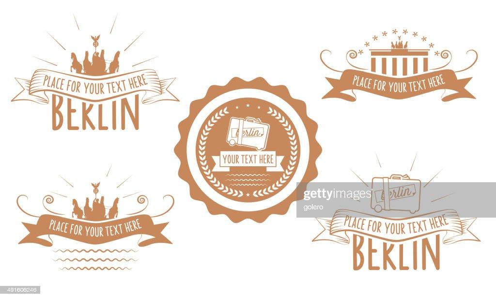 vintage berlin vector line art symbols