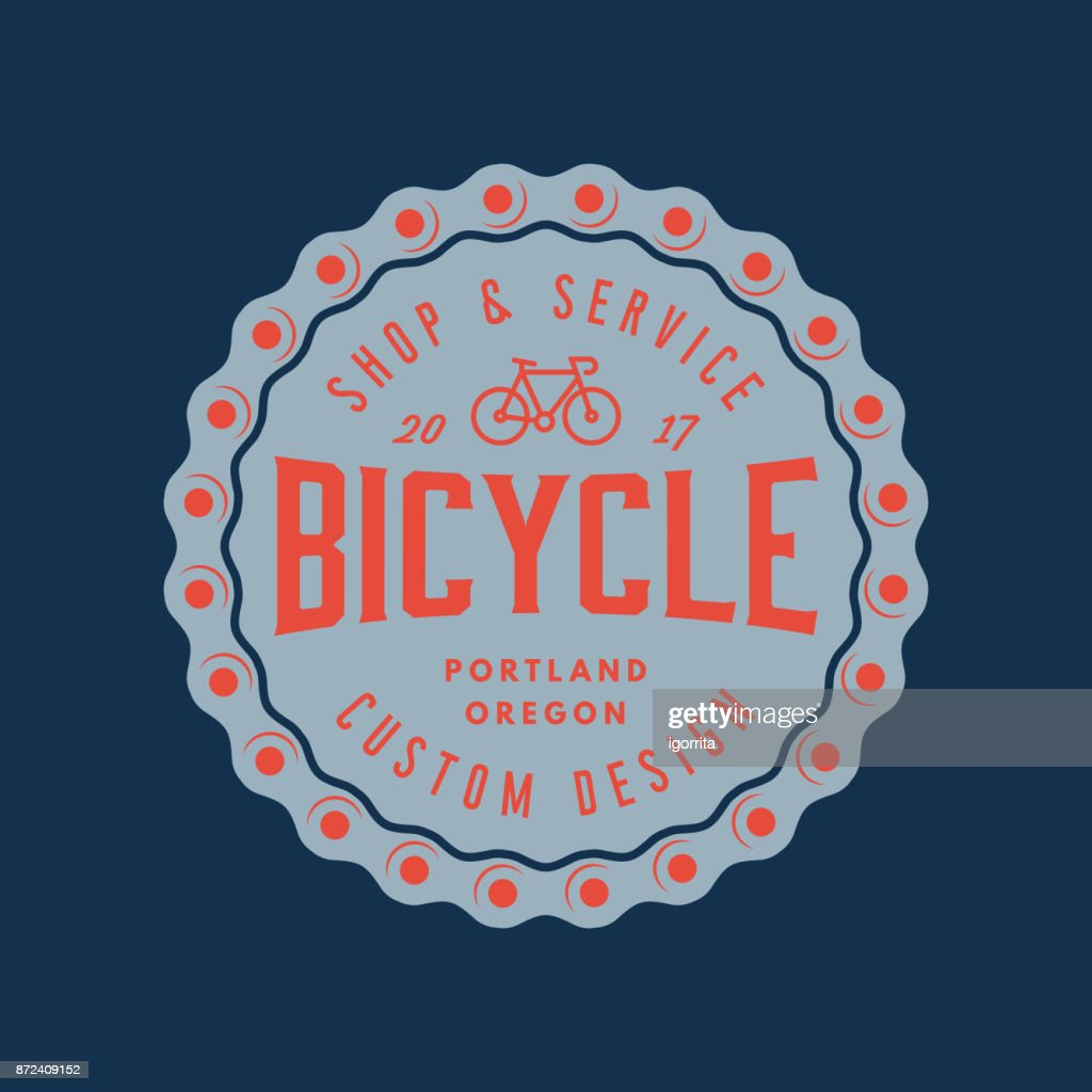 vintage bicycle shop and repair badge. bike sales and service
