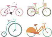 Vintage bicycle vector illustration
