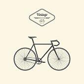 Vintage bicycle.vector