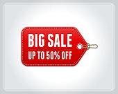 Vintage big sale tag vector design elements