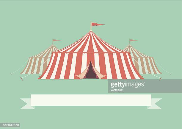 vintage big top circus tent - tent stock illustrations, clip art, cartoons, & icons