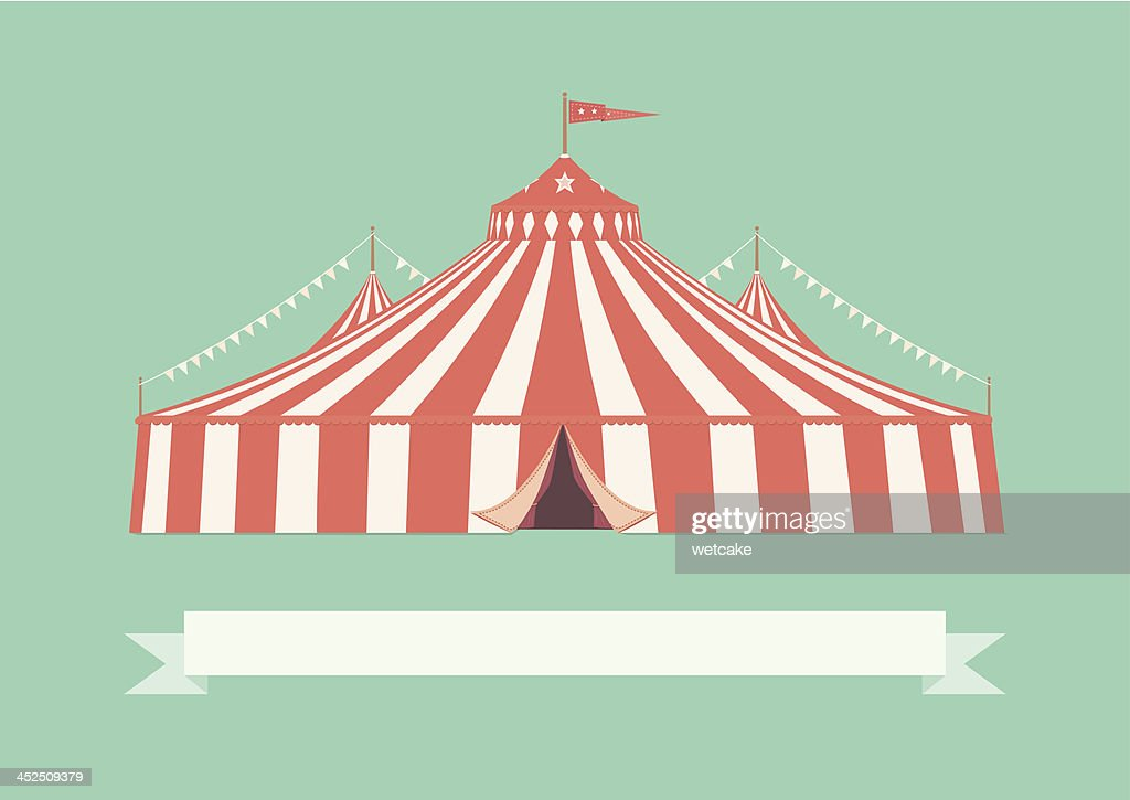 Vintage Big Top Circus Tent  Vector Art  sc 1 st  Getty Images : circus tent top - memphite.com
