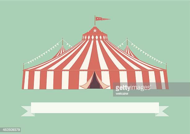 ilustraciones, imágenes clip art, dibujos animados e iconos de stock de vintage el gran carpa de circo - carpa de circo