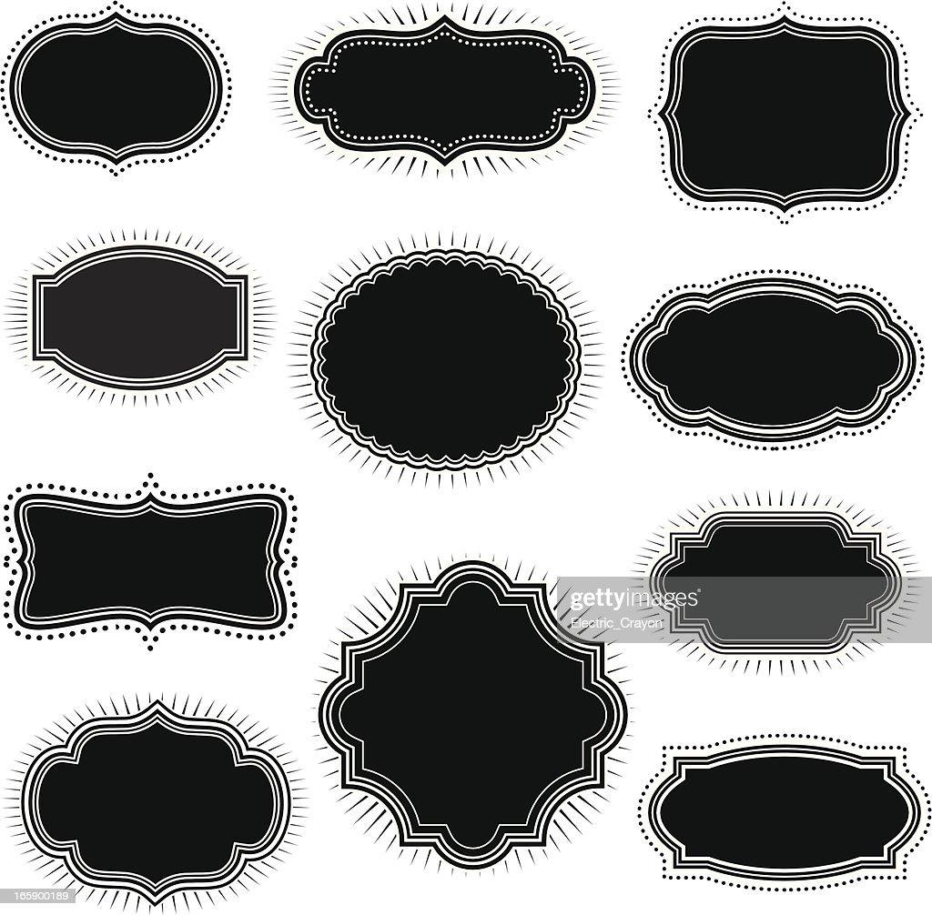 Vintage Black Frames
