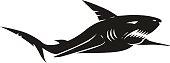 Vintage black shark