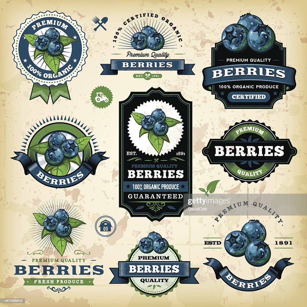 Vintage Blueberries Labels