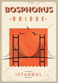 Vintage Bosphorus Bridge - Istanbul Poster